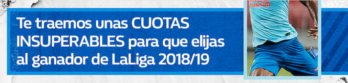 William Hill supercuota campeon liga 18/19