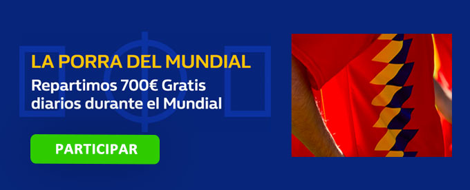 700€ cada día de Mundial con William Hill