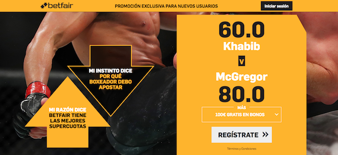 Supercuota Betfair final UFC peso ligero